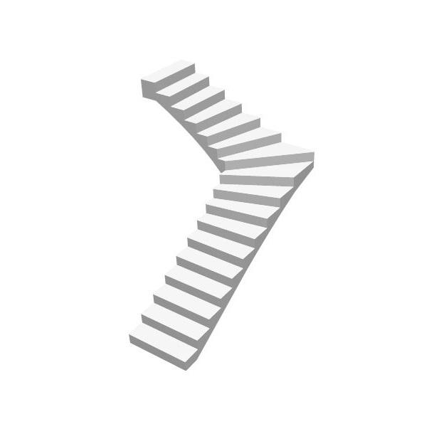 Г-образная бетонная лестница с забежными ступенями цена МОНОЛИТМАСТЕР