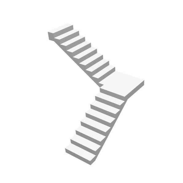 Г-образная бетонная лестница с площадкой цена МОНОЛИТМАСТЕР