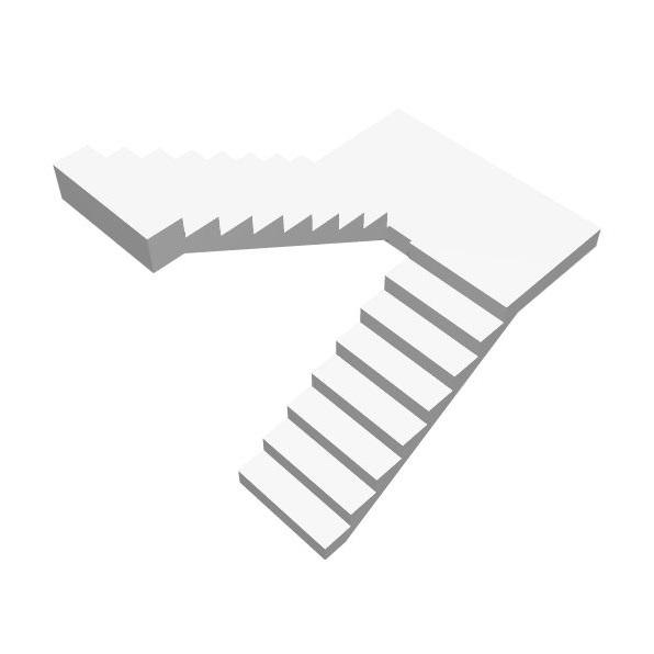 Бетонная п-образная лестница с площадкой цена МОНОЛИТМАСТЕР