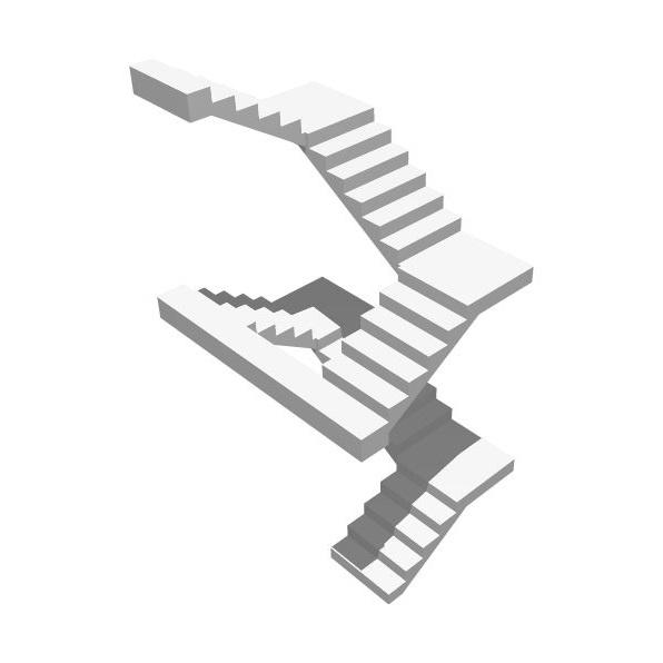 П-образная бетонная лестница 2 этажа (двухэтажная) МОНОЛИТМАСТЕР