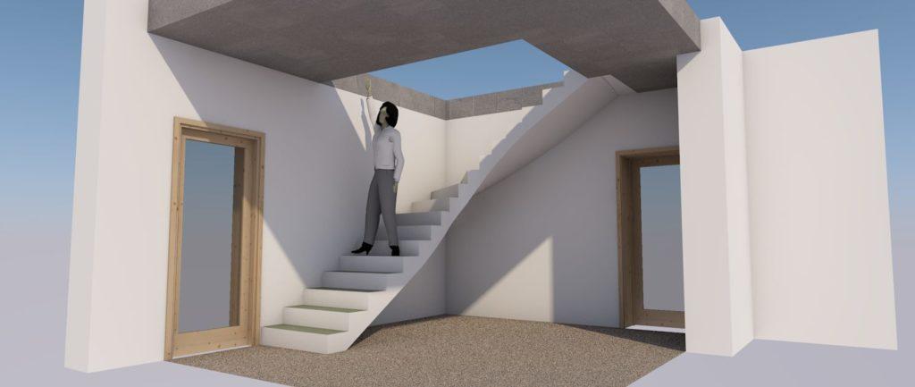 Бесплатный 3D-проект бетонной лестницы (вид сбоку) МОНОЛИТМАСТЕР