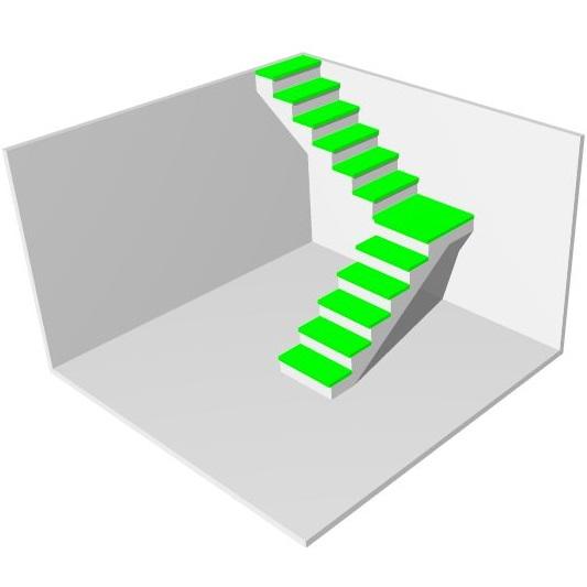 Отделка бетонной лестницы в частном доме МОНОЛИТМАСТЕР