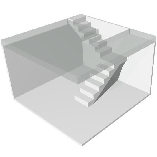 Проект лестницы на второй этаж в частном доме МОНОЛИТМАСТЕР
