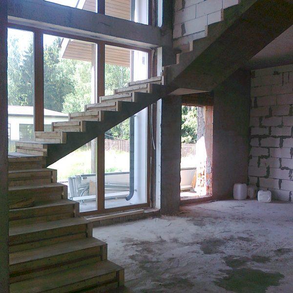 П-образная бетонная лестница с площадкой фото 13 МОНОЛИТМАСТЕР