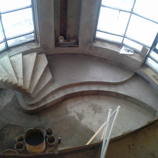 Бетонная лестница (монолитная) без отделки 7 МОНОЛИТМАСТЕР
